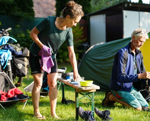 Ruud and Michele camping
