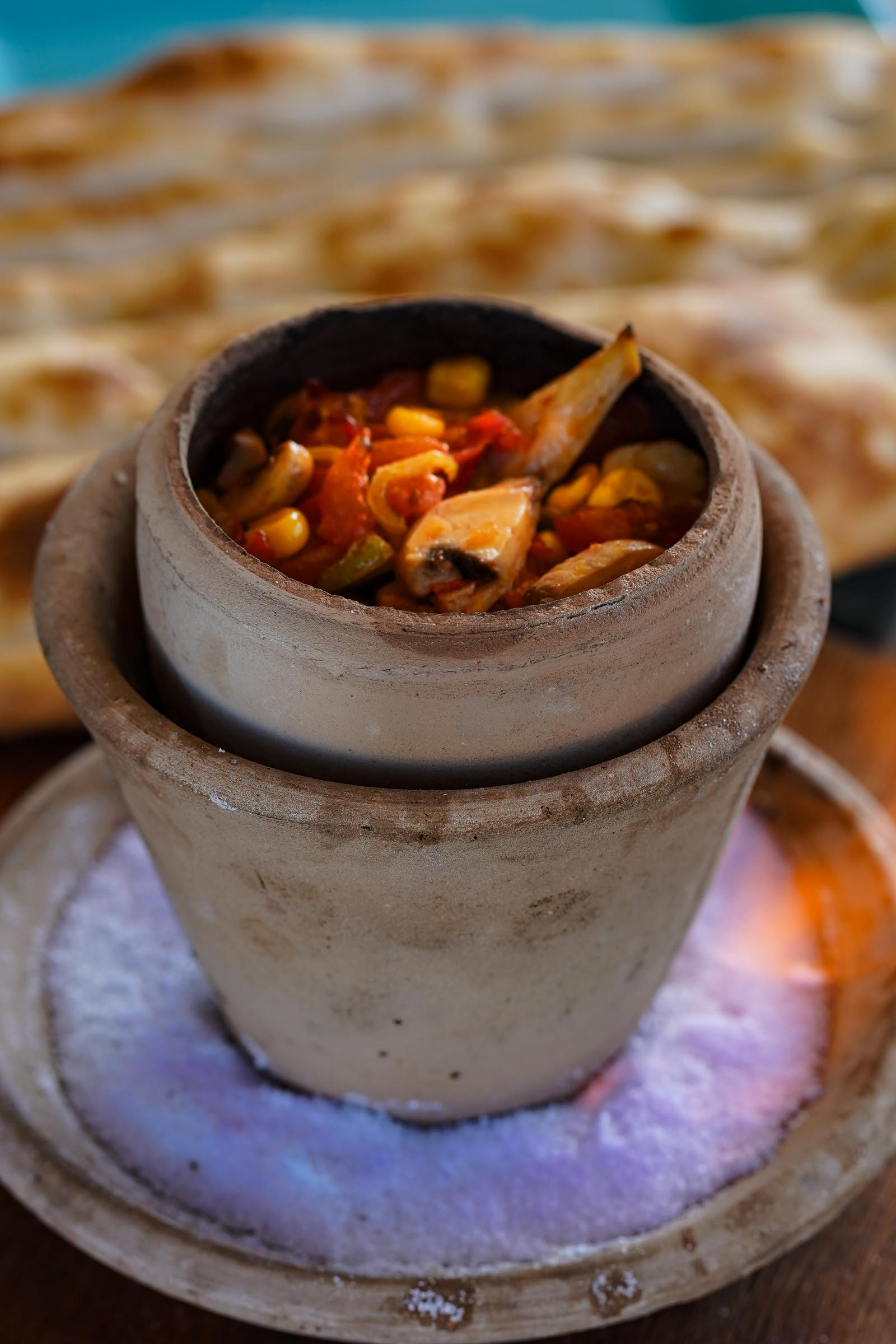 Turkish clay pot casserole